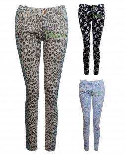 Womens Ladies Slim Skinny Leg Stretch Aztec Animal Ying Yang Print