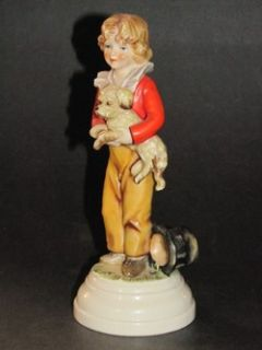 Charming 1970 Boy with Dog Goebel Figurine FF311