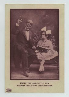 Early Black Americana Theatre Card Stetsons Uncle Toms Cabin Co Eva