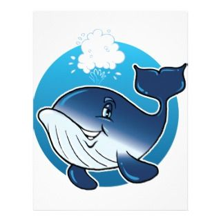 Happy Whale Letterhead Template