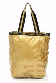 LeSportsac Gold Black Gold Rush Tote Bag New
