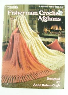 Leisure Arts Crocheting Books Lot Crochet Seamless Raglan Afghans