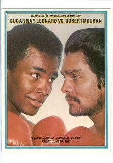 1980 Sugar Ray Leonard vs Roberto Duran Welterweight Championship