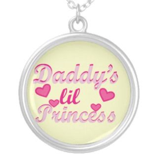 daddys little princess baby girl pink necklace