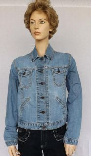 Levi Strauss Signature Misses Denim Jean Cropped Jacket Sz s 4 6