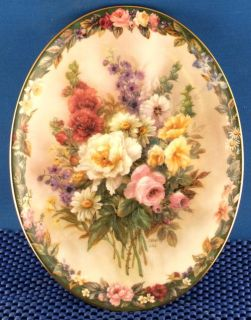 Lena Liu Remembrance Floral Cameos Collector Plate