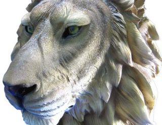 Life Like Lion Head Bust Statue Nature Decor Leo