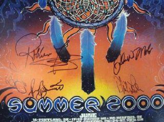 Phil Lesh Summer 2000 Concert Poster Signed Grateful Dead COA