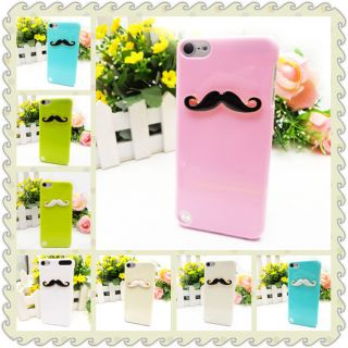 Leon Chaplin 3D Black Mustache Case Pink Cover for Apple iPod Touch 5