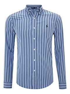 Polo Ralph Lauren Long sleeved slim fitted striped shirt Blue