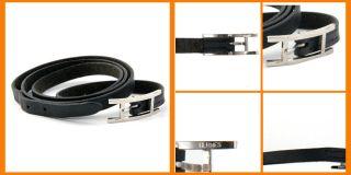 BE HAPI $350 HERMES triple wrap hapi leather bracelet necklace silver