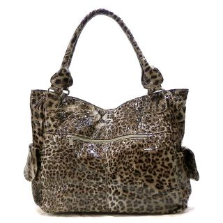 New Brown Leopard Animal Print Tassel Carolyn Shoulder Bag Hobo
