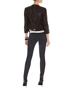 Karen Millen Black leather jacket Black