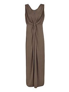 Planet Mole grecian maxi dress Brown