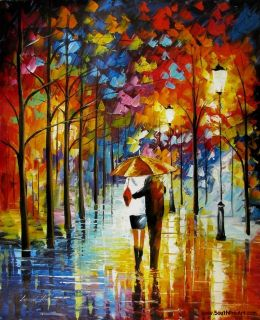 Leonid Afremov   Good Night My Love   Romance Original Oil Painting on