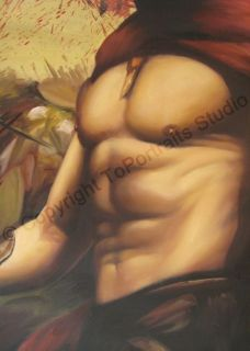 Original Oil Painting of King Leonidas 300 Movie Poster