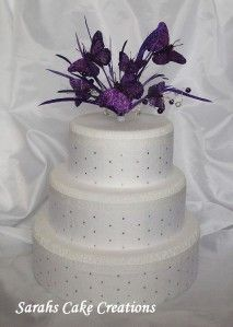 Rich Purple Butterfly Cake Topper Wedding Birthday Decoration
