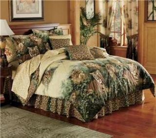 lions tiger leopards comforter set twin full queen king