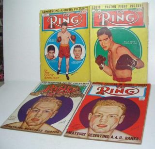 Vintage Late 1930s to 1951 The Ring Boxing Magazines