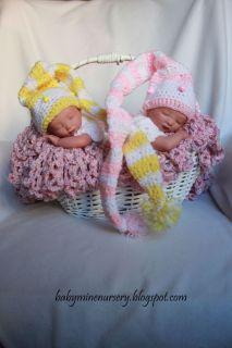 Girl Twins Micro Preemie Babymine Nursery Letha Byron Pratt