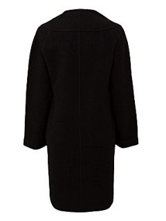 East Boiled wool shawl collar coat Black