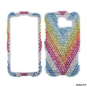 Rhinestone Bling Cover LG Optimus s Sprint LS670 41