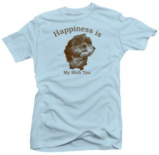 Happiness Shih Tzu Cute Dog Lovers Funny New T shirt