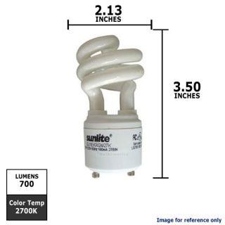 BRAND NEW 11W 120V T2 WW GU24 CFL Mini Twist Light Bulb