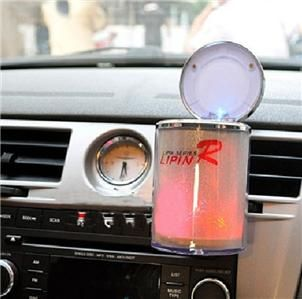 Auto Car Cup Holder LED Light Ashtray Colourful Romance