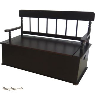 Levels of Discovery Kids Classic Espresso Dark Brown Bench Toy Box