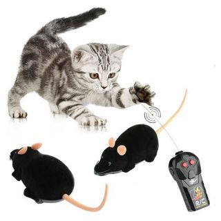 Control RC Rat Mouse Wireless For Cat Dog Pet Toy Funny Novelty Gift