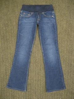 Levi Strauss Maternity Jeans Stretch 524 Bootcut Medium Blue Size 5 XS