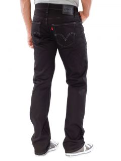 Levis Mens 514 Slim Straight Jeans Shock Black 0137
