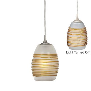 New Mini Pendant Lighting Fixture or Track Light Brushed Nickel Amber