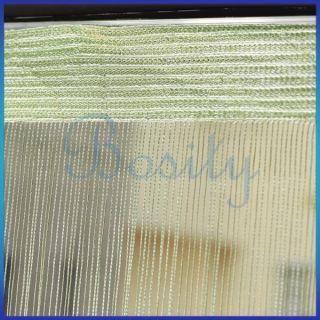 Panel Room Divider Hanging String Curtain Strip Light Green