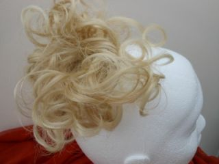 Hair Extension Scrunchie Light Honey Blonde Up do Down do Curly