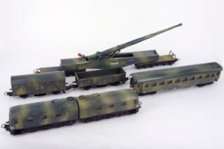 LIMA Golden Series Leopold K5 Railway Gun Train Set, HO Scale **RARE