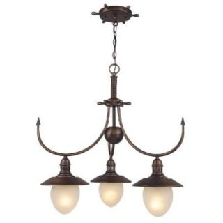 New 3 Light Nautical Chandelier Lighting Fixture Antique Copper Bronze
