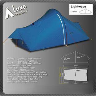 LUXE Lightwave Ultralight 1 2 man person Aluminium Pole Camping Tent 1