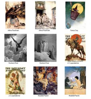 CHILDREN STORYBOOKS ARTIST Art Images Cory Rackham Leyendecker Dore
