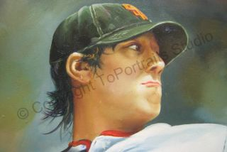 Tim Lincecum San Francisco Giants Canvas Oil Painting