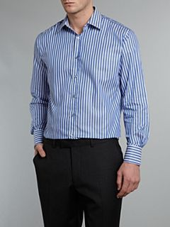 Paul Smith London Long sleeved butchers stripe classic fit shirt Cornflower