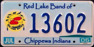 Lake CHIPPEWA Nation Tribe Indian License Plate █▀▄▀▄