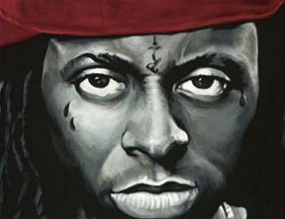 Lil Wayne Signed Canvas Art Painting Hip Hop 30X30