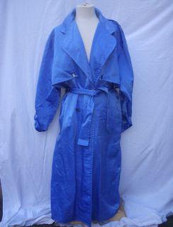 Linda Lundstrom La Parka Trench Coat Cornflower Blue M