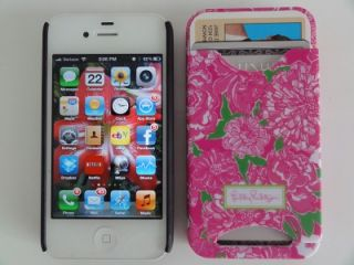 LILLY PULITZER IPhone 4 / 4S MAY FLOWERS Cell Phone Cover Case w/ 2