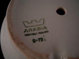 Vtg Arabia Finland Richard Lindh Flower Pot Planter Saucer White 5