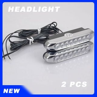 Youre bidding 8 LED Day Driving BLUE Beam Car Spot Fog Lamps Lights