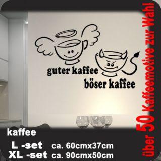 Wandtattoo Küche Cafe Coffee Guter Kaffee Böser WKF34