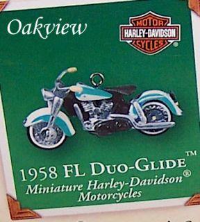Hallmark 2002 Miniature Harley Davidson #4 1958 FL Duo Glide Miniature